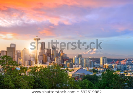 Cityscape Seattle пространстве иглы небе воды Сток-фото © AndreyKr