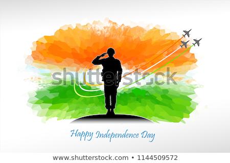 exército · Índia · quadro · guerra · serviço · silhueta - foto stock © perysty