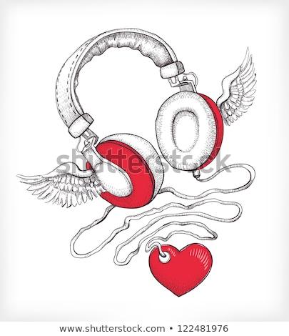 Гранж · звук · оратора · крыльями · музыку · аннотация - Сток-фото © articular