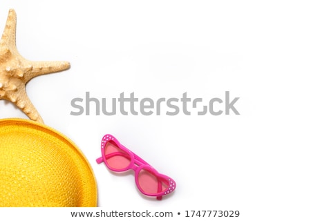 laying girl in yellow dress on white sand stock photo © dolgachov