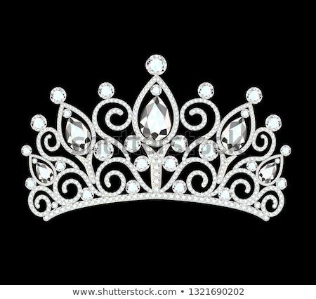 Diamond Diadem feminine, vector illustration Stock photo © carodi