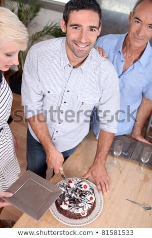 男 笑みを浮かべて カメラ カット オフィス ストックフォト © photography33