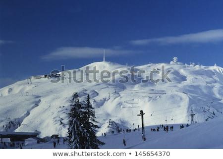 Kayak doğa manzara kar kış dağlar Stok fotoğraf © pumujcl