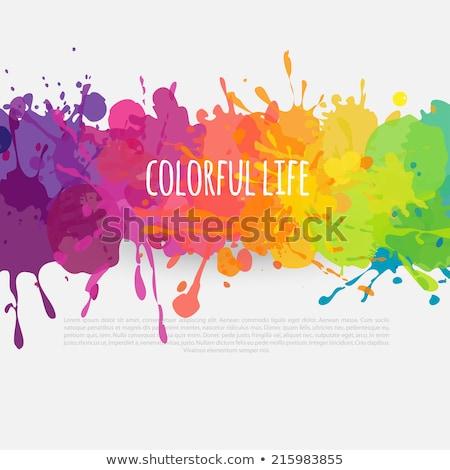 Color paint splashes artwork Stock photo © Designer_things