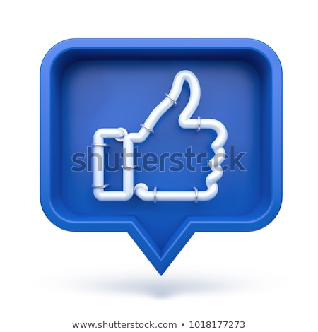 Web Button Like. Isolated on White Background. Stock photo © tashatuvango