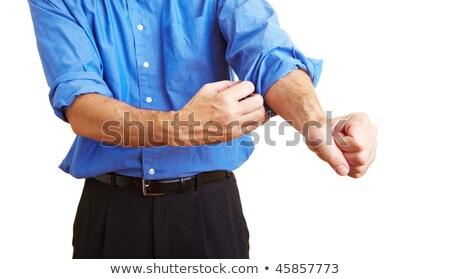 ロール アップ 事業者 作業 メタファー ビジネス ストックフォト © sumners
