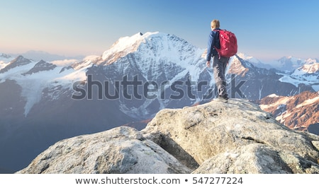 extreme sport at a high altitude Stock photo © OleksandrO