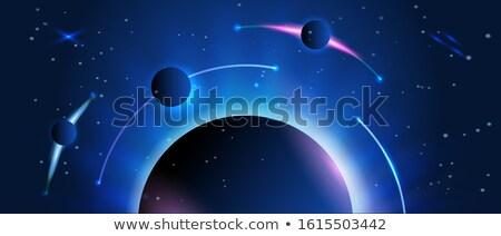 Passos planetas sol negócio pôr do sol mar Foto stock © mariephoto