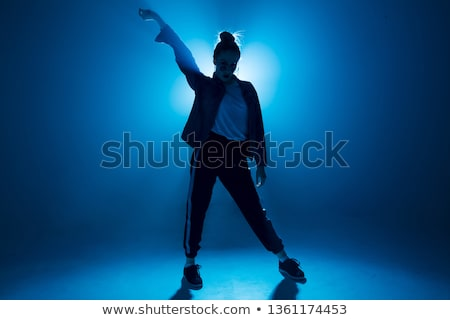 stylish silhouette beautiful woman dancing Stock photo © prg0383