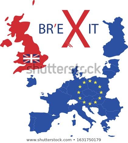 Europa mapa reino política europeu união Foto stock © stuartmiles