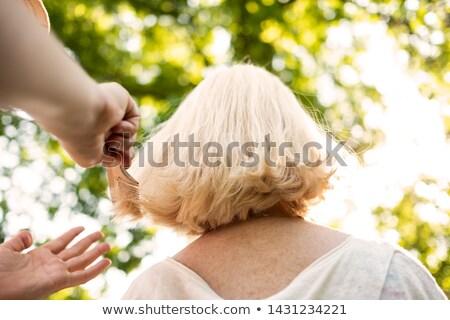 Büyükanne açık havada yürüyüş yaşlı genç kişi Stok fotoğraf © photography33