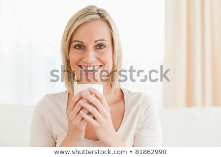 Cup · caffè · seduta · ufficio - foto d'archivio © wavebreak_media