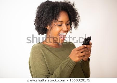 smart · dziewczyna · biały · uśmiech - zdjęcia stock © wavebreak_media