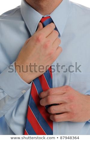 Mano cravatta bianco moda Foto d'archivio © wavebreak_media