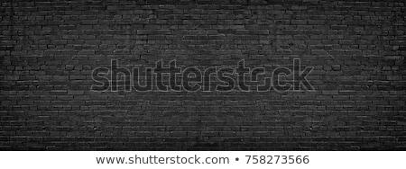Siyah tuğla duvar doku çatlaklar kir noktalar Stok fotoğraf © tashatuvango