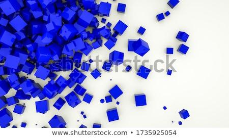 Cubes différent matériaux blanc noir acier Photo stock © prill