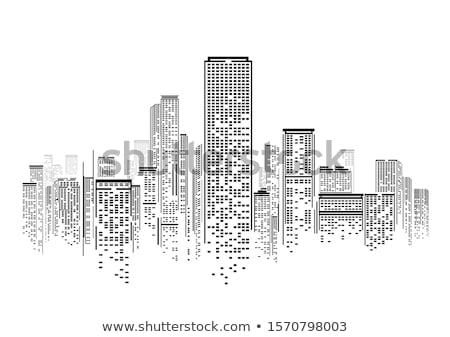 Soyut desen binalar Bina dış zemin Stok fotoğraf © mtkang
