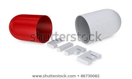 verslaving · witte · woord · Rood · 3d · illustration · puzzel - stockfoto © dacasdo