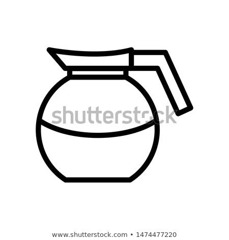 café · pote · ícone · imagem · vidro · teia - foto stock © cteconsulting