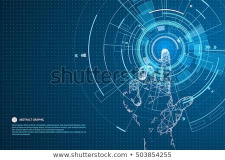 technológia · kéz · üzletember · szürke · üzlet · internet - stock fotó © matteobragaglio