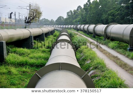 long huge water pipes stock photo © dacasdo