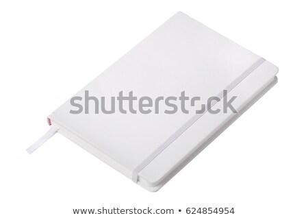 pelle · notebook · ufficio · libro · nero · clean - foto d'archivio © leonardi