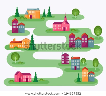 Rolling landscape and house Stock photo © zzve