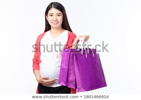 Feliz cliente bonitinho menina sorridente amavelmente Foto stock © Lighthunter