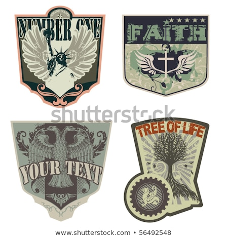 Foto stock: Rock N Roll Crests And Shields