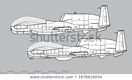 Four military aircrafts Vector illustration Stock photo © leonido