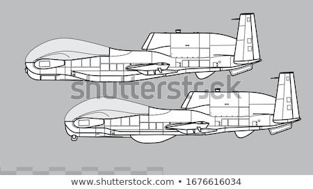 aeronave · vetor · voador · nuvens · isolado - foto stock © leonido