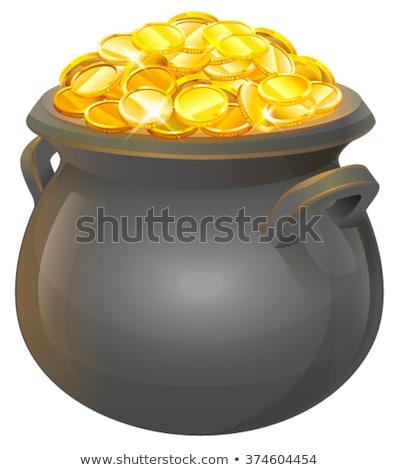dinheiro · caldeirão · céu · grama · folha · arco-íris - foto stock © Alegria111