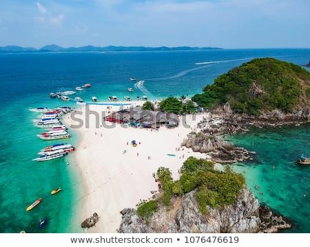 Sziget tájkép nyár óceán utazás csónak Stock fotó © pop_araks
