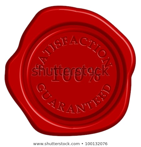 satisfaction   stamp on red wax seal stock photo © tashatuvango