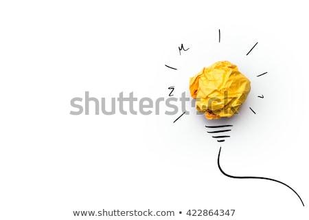 Brilhante idéia bela mulher lâmpadas mão Foto stock © jayfish