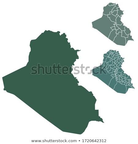 Green Iraq map Stock photo © Volina