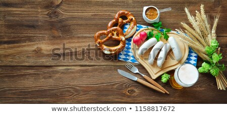 bavarian weisswurst and beer stock photo © franky242