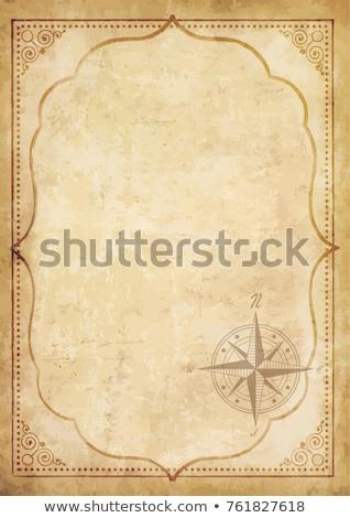 Navegação bússola grunge papel velho textura vintage Foto stock © stevanovicigor