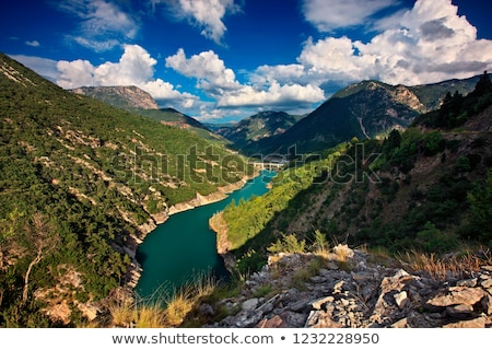 озеро Греция небе отражение лес природы Сток-фото © ankarb