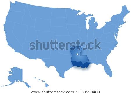 Mappa Stati Uniti Louisiana fuori politico tutti Foto d'archivio © Istanbul2009