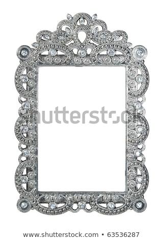 Frame juwelen zilver ornamenten illustratie textuur Stockfoto © yurkina