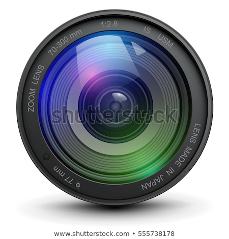 Kameralencse lövés stúdió izolált fekete fehér Stock fotó © Marfot
