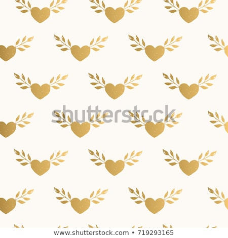 garland with Golden hearts Stock photo © LittleCuckoo