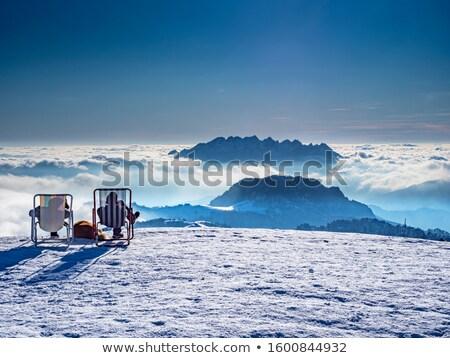 Pic alpes hiver Autriche ciel nature Photo stock © janhetman