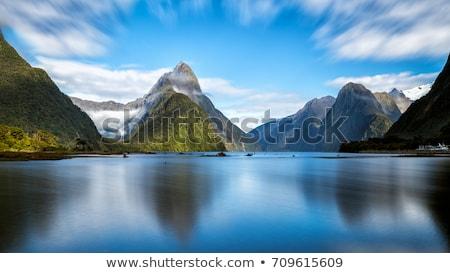 звук · Новая · Зеландия · отражение · высокий · горные · ледник - Сток-фото © backyardproductions