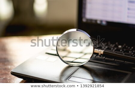 Social Education - Magnifying Glass. Stock photo © tashatuvango