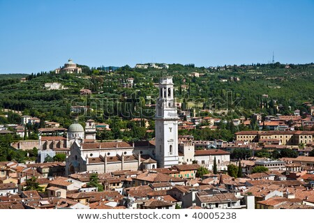 panorama of Verona and the mountains of  Torre dei Lamberti Stock photo © meinzahn