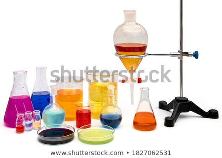Test tube with dropper and spatula Stock photo © bdspn