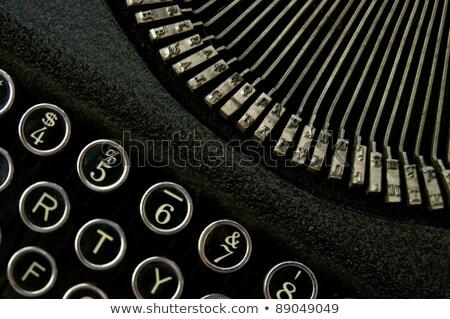Vintage typwriter keyboard Stock photo © epstock