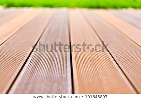 Wooden platform made from bangkirai wood. Stock photo © jirkaejc